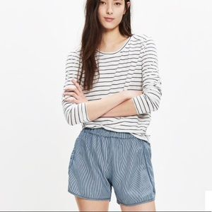 Madewell Pull-on Shorts in Railroad Stripe